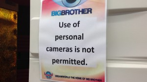 Big Brother Diary Room Sign